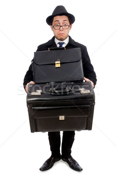 Young man holding bags isolated on white Stock photo © Elnur