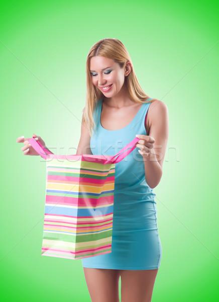 Stok fotoğraf: Kız · iyi · alışveriş · beyaz · yüz