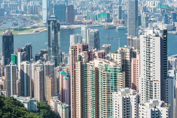 Hong Kong dag business landschap zee Stockfoto © Elnur