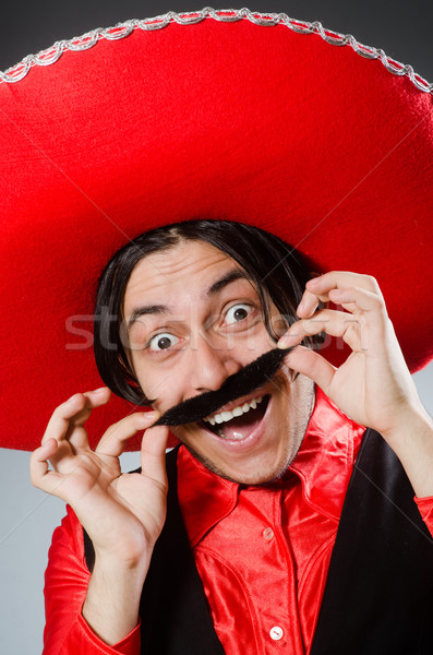 Pessoa sombrero seis engraçado feliz Foto stock © Elnur