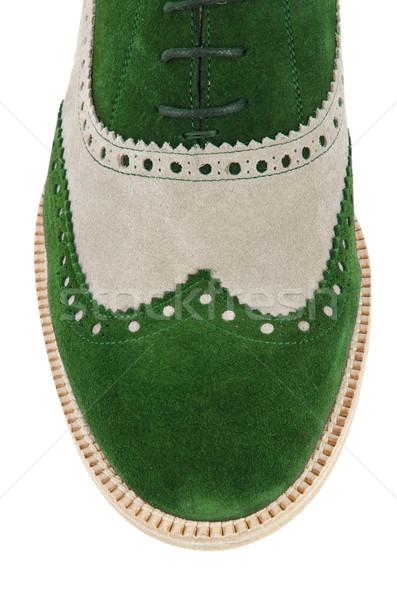 Punta masculina zapatos aislado blanco moda Foto stock © Elnur