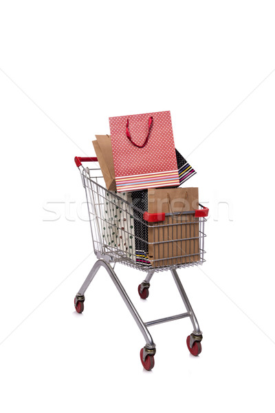Shopping cart trolley isolated on the white background Stock photo © Elnur