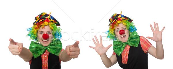 Female clown isolated on white Stock photo © Elnur
