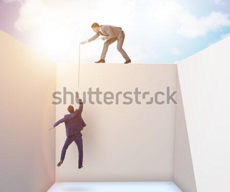 Człowiek plakat biały człowiek biały nude zdrowia Zdjęcia stock © Elnur