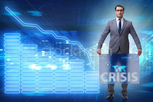 Zakenman crisis business geld corporate markt Stockfoto © Elnur