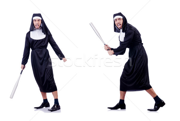 Male nun in funny religious concept Stock photo © Elnur