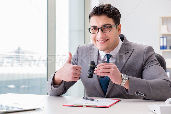 Man looking for errors and mistakes in report Stock photo © Elnur