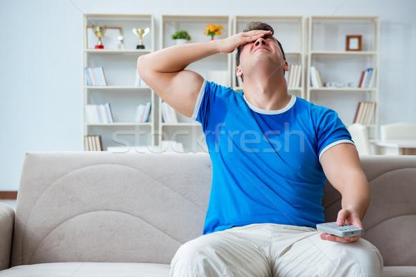 Férfi izzadás rossz otthon test stressz Stock fotó © Elnur