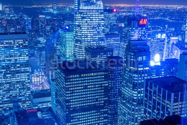 Noc widoku Nowy Jork Manhattan wygaśnięcia działalności Zdjęcia stock © Elnur