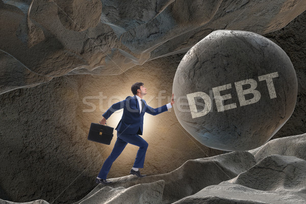 Imprenditore alto debito business casa finanziare Foto d'archivio © Elnur