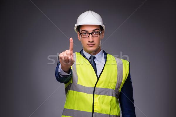男 着用 ヘルメット 建設 ベスト ワーカー ストックフォト © Elnur