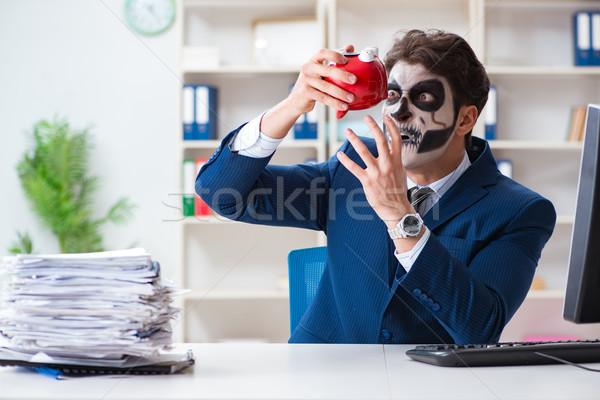 ビジネスマン 怖い 顔 マスク 作業 オフィス ストックフォト © Elnur
