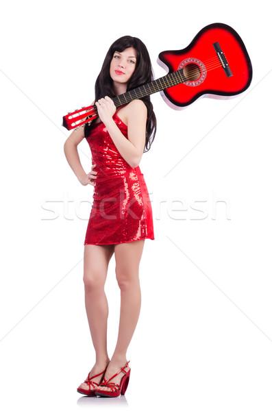 молодые певицы гитаре белый вечеринка металл Сток-фото © Elnur