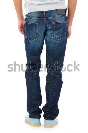 Broek geïsoleerd witte mode model mannelijke Stockfoto © Elnur