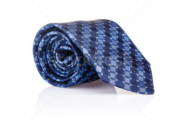 Elegante zijde mannelijke stropdas stropdas witte Stockfoto © Elnur