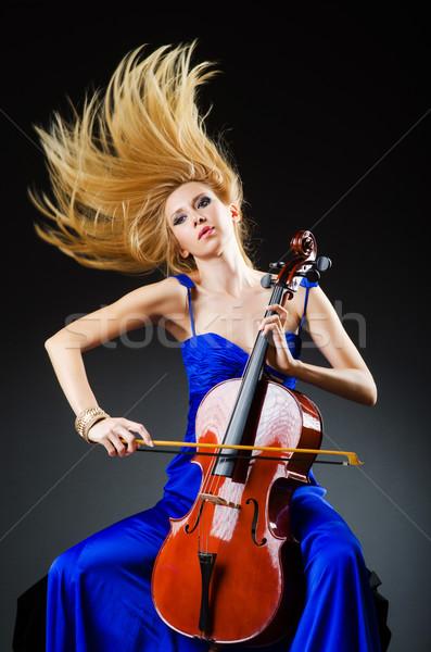 魅力のある女性 チェロ スタジオ 女性 コンサート バイオリン ストックフォト © Elnur