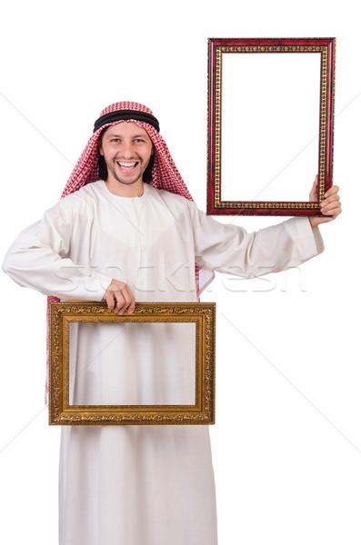 Emiraty ramki obrazu biały działalności ramki biznesmen Zdjęcia stock © Elnur