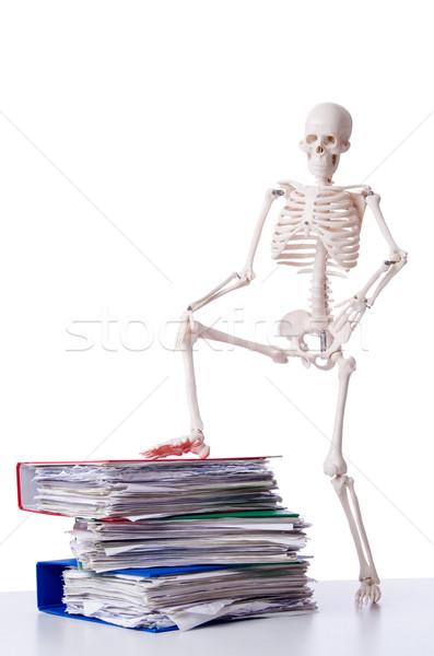 Сток-фото: скелет · файла · белый · бизнеса · бумаги