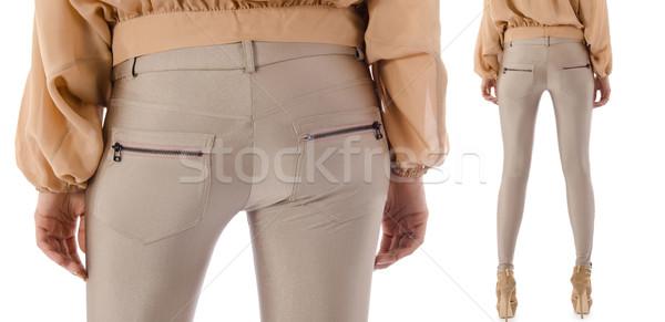 брюки модель изолированный джинсов кожа женщины Сток-фото © Elnur
