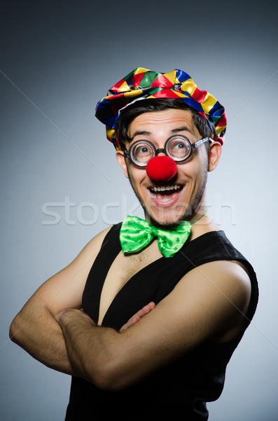 Engraçado palhaço escuro sorrir cara óculos Foto stock © Elnur