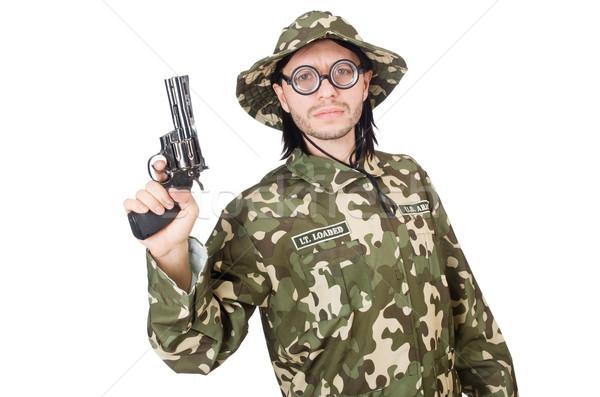 смешные солдата военных стороны человека фон Сток-фото © Elnur