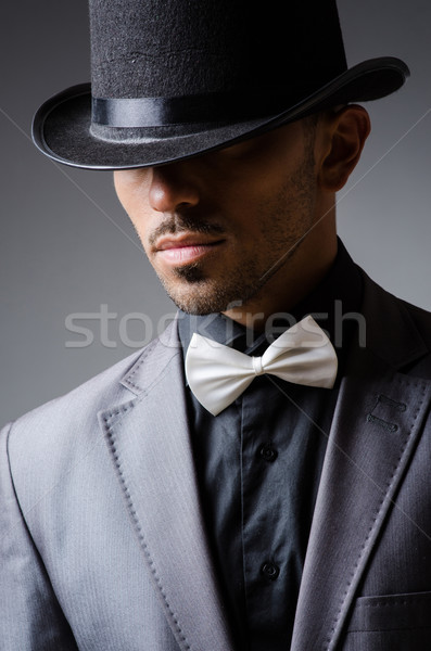 Man with hat in vintage concept Stock photo © Elnur