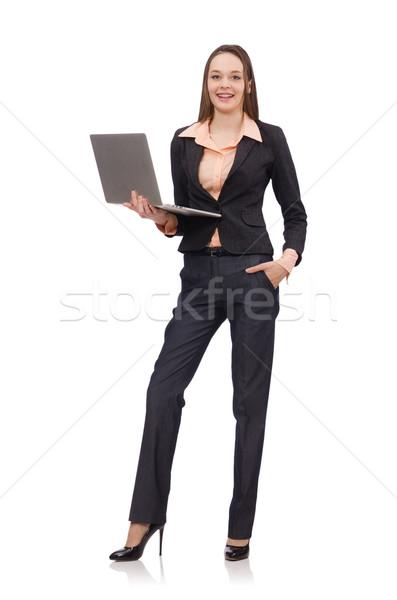 Working lady isolated on white Stock photo © Elnur