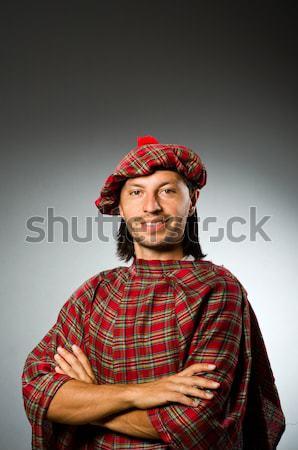 Funny scotsman with smoking pipe Stock photo © Elnur