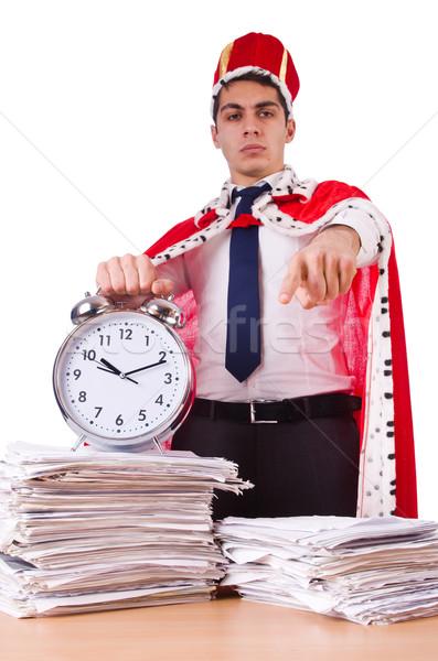 Roi affaires paperasserie affaires travaux temps Photo stock © Elnur