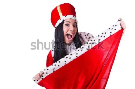 Stok fotoğraf: Kar · kız · Noel · yalıtılmış · beyaz