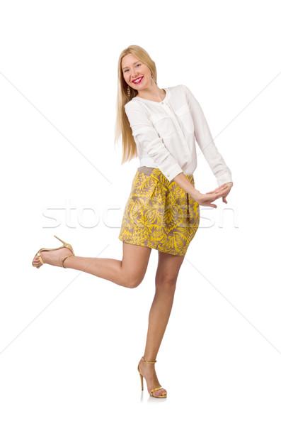 Moda donna dancing vestiti bianco Foto d'archivio © Elnur