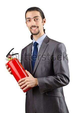 ビジネスマン ダイナマイト 孤立した 白 ビジネス スーツ ストックフォト © Elnur