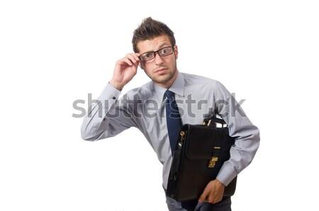 Jovem empresário arma isolado branco trabalhar Foto stock © Elnur