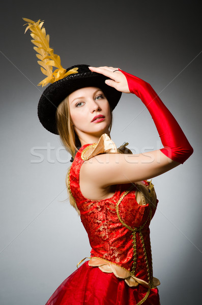Pirate woman with feathered hat Stock photo © Elnur