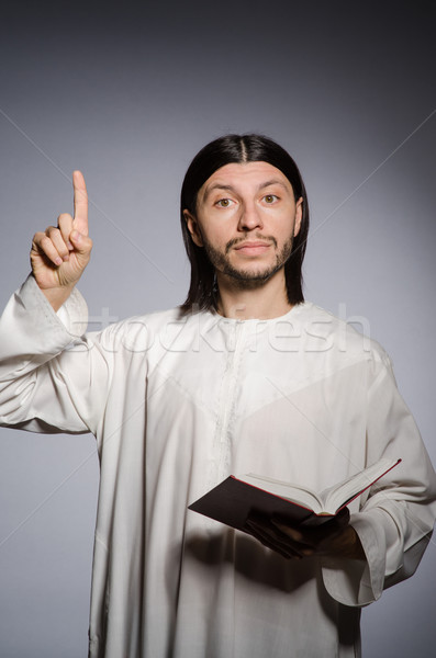 Stock photo: Priest man in religious concept