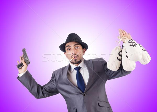 Foto d'archivio: Imprenditore · penale · soldi · uomo · maschera · bag