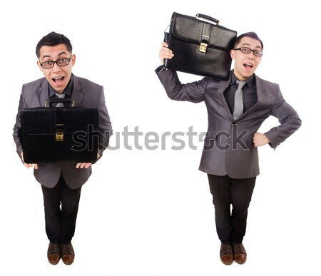 Woman in business concept isolated on white Stock photo © Elnur