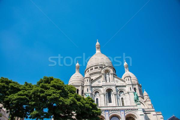 Basilique du Sacre Coeur church in Paris Stock photo © Elnur