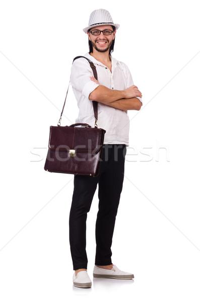 若い男 帽子 孤立した 白 ビジネス 男 ストックフォト © Elnur