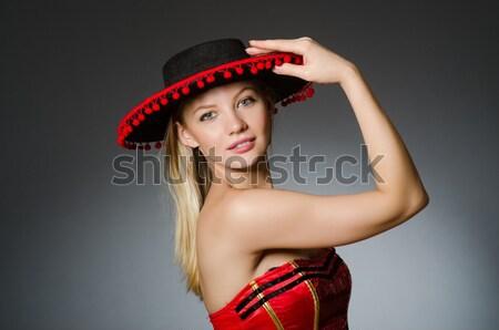 Mulher pirata traje halloween mão preto Foto stock © Elnur