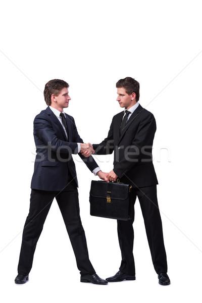 два близнец братья изолированный белый бизнеса Сток-фото © Elnur
