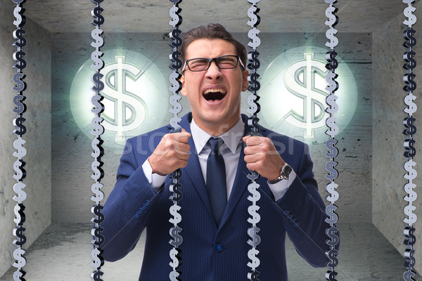 The man trapped in prison with dollars Stock photo © Elnur