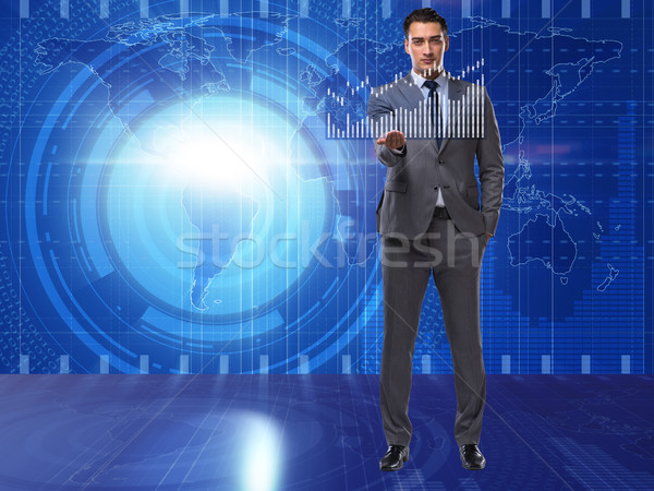 Man in stock trading business concept Stock photo © Elnur