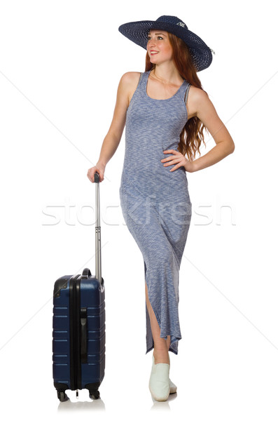 Woman preparing for summer vacation on white Stock photo © Elnur
