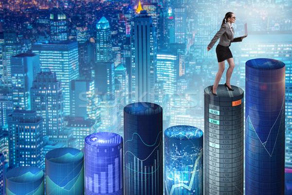 Kobieta online handlowy działalności komputera Zdjęcia stock © Elnur