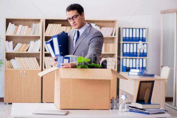 Férfi mozog iroda doboz üzlet szomorú Stock fotó © Elnur