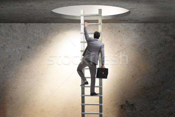 карьеру бизнесмен скалолазания лестнице бизнеса исполнительного Сток-фото © Elnur