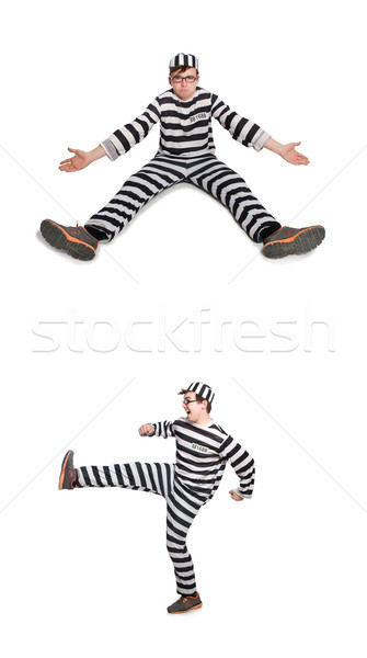 Funny więzienia więzień człowiek tle prawa Zdjęcia stock © Elnur