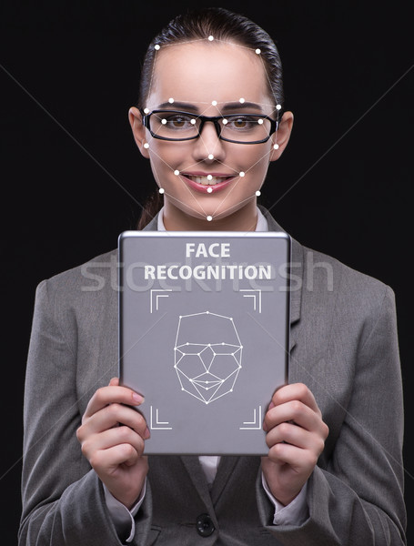 Woman in face recognition concept Stock photo © Elnur