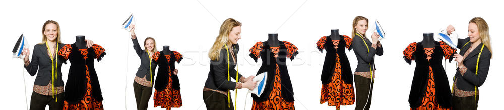 Woman tailor isolated on white Stock photo © Elnur